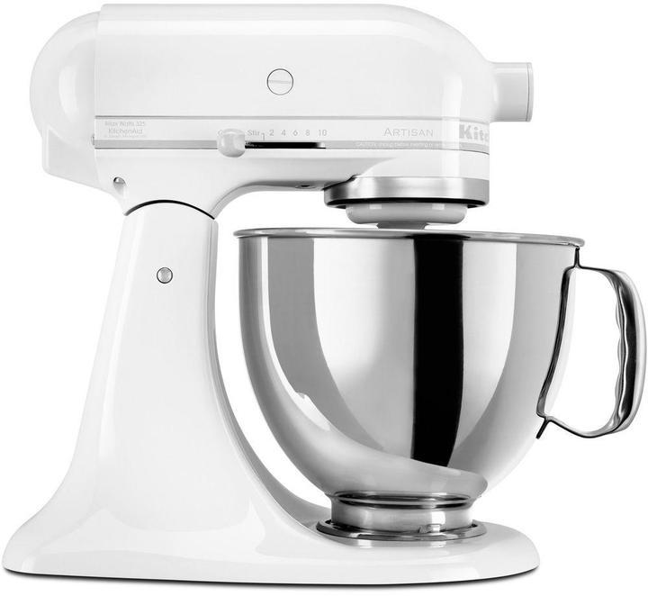 KitchenAid Artisan Series 5 qt. Stand Mixer in White on White