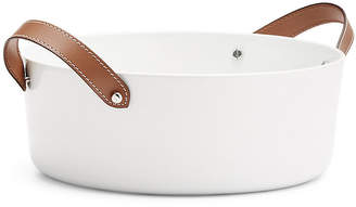 Ralph Lauren Home Wyatt Salad Bowl - White/Saddle Brown