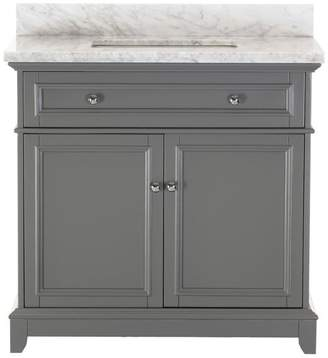 1st Avenue Kennon Gray Bathroom Vanity With Marble Top