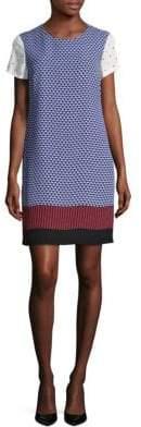 Vince Camuto Printed Short-Sleeve Shift Dress