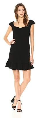 Rebecca Taylor Women's Short Sleeve Structured Textured Dress