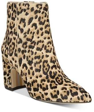 Sam Edelman Women's Hilty Leopard-Print Block Heel Ankle Booties