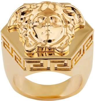 Versace Hexagonal Medusa Ring