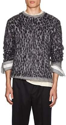 Needles Men's Leopard-Jacquard Mohair-Blend Sweater