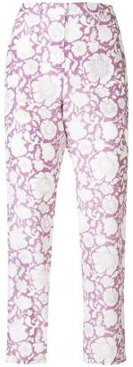 Christian Wijnants cropped floral print trousers