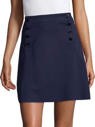 Three Dots Women's Button Detail A-Line Skirt