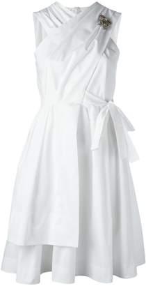 No.21 back bow flared dress