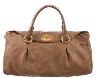 Miu Miu Leather Satchel Bag Tan Leather Satchel Bag