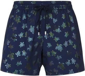 Vilebrequin Moonrise Metallic Turtle Swim Shorts