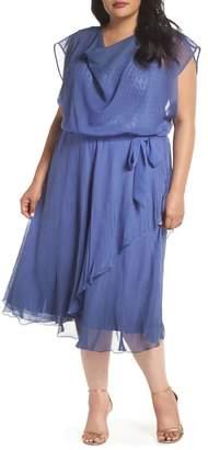 b130df1c542e9 Komarov Charmeuse   Chiffon Blouson Dress (Plus Size)
