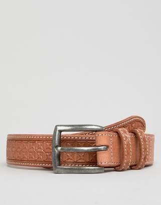 Dead Vintage Embossed Leather Belt