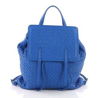 Bottega Veneta Blue Leather Backpacks