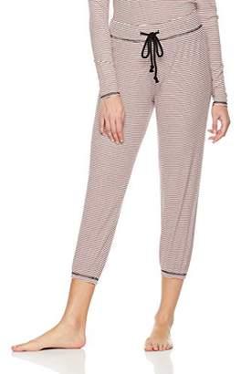 Rebel Canyon Young Womens Stripe Cropped Rib Jogger Lounge Pant (