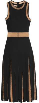 Michael Kors Layered Lace-Paneled Crepe Dress