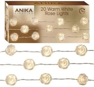 Anika 20 Warm White Rose String Lights