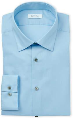 Calvin Klein Sky Blue Slim Fit Stretch Dress Shirt