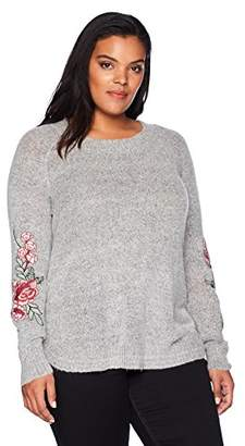 Freshman 1996 Women's Plus Size Pullover Sweater with Embroidery