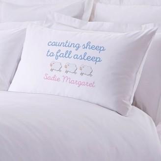 MonogramOnline Counting Sheep To Fall Asleep Custom Standard Pillowcase