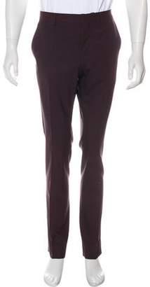 Valentino Virgin Wool Flat Front Pants