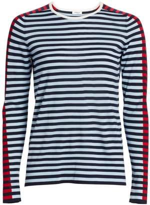 Akris Punto Tri-Color Wool Knit Sweater