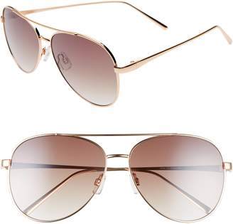 BP 60mm Browbar Metal Aviator Sunglasses