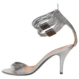 Givenchy Silver Leather Sandals