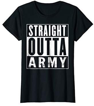 Straight Outta Army Funny T-Shirt