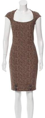 Zac Posen Printed Sheath Dress