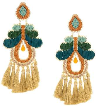 Mercedes Salazar large tassel earrings