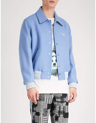 Off-White Embroidered wool-blend jacket