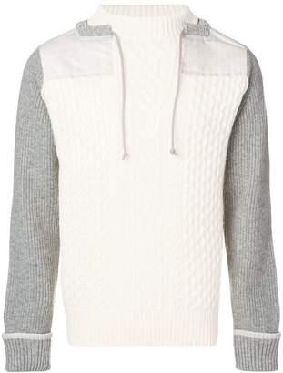 Sacai drawstring neck sweater