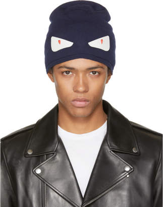 Fendi Navy Bag Bugs Beanie