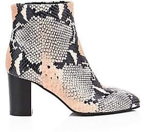 Aquatalia Women's Florita Snakeskin-Embossed Leather Ankle Boots