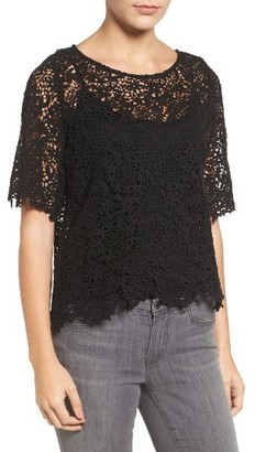 Women's Velvet By Graham & Spencer Lace Blouse With Camisole $158 thestylecure.com
