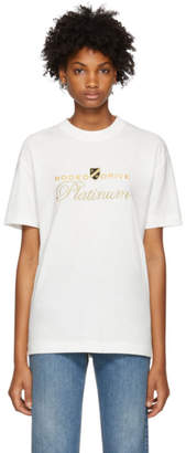Alexander Wang White Rodeo Drive Platinum T-Shirt