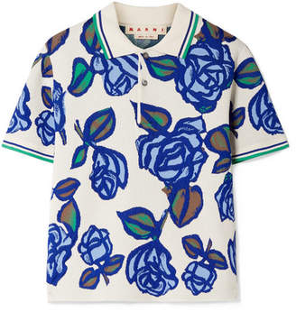 Marni Jacquard-knit Polo Shirt
