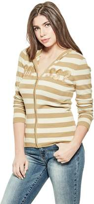 Factory Guess Women's Dawn Logo Hooded Sweater
