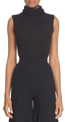 Women's Brandon Maxwell Bias Trim Collar Sleeveless Top $695 thestylecure.com