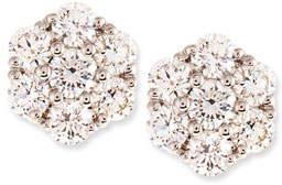 Memoire Small Diamond Flower Cluster Earrings, 0.97 tdcw