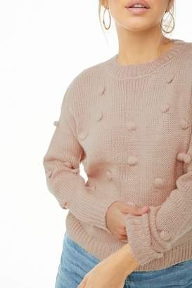 Forever 21 Clip-Dot Ball Sweater