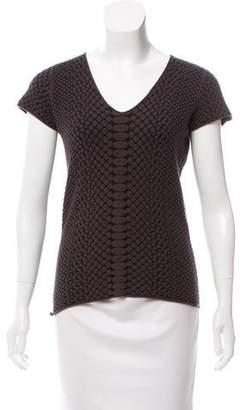 Armani Collezioni Jacquard Knit Top
