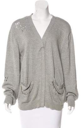 Thomas Wylde Distressed Knit Cardigan