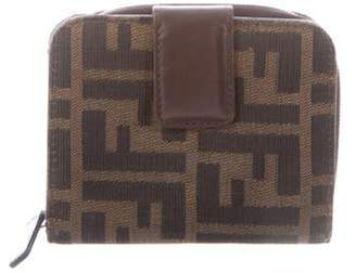 Fendi Zucca FF Leather-Trimmed Wallet Brown Zucca FF Leather-Trimmed Wallet