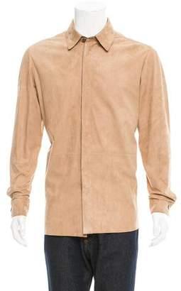Jeffrey Rüdes Suede Button-Up Shirt w/ Tags