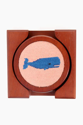 Smathers and Branson Whale Needlepoint Coaster Set