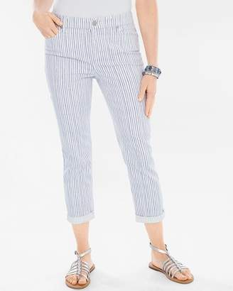 76f07bc0f498 So Slimming Painted Pinstripe Girlfriend Crops