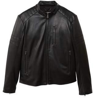 Mango man MANGO MAN Quilted panels biker jacket