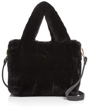 Aqua Faux-Fur Tote - 100% Exclusive
