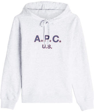 A.P.C. Printed Cotton Hoody