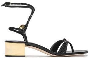 Rene Caovilla Rene' Caovilla Crystal-Embellished Satin Sandals